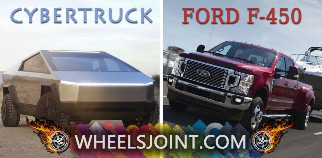 Tesla Cybertruck Vs Ford F 250 F 350 F 450 Comparison